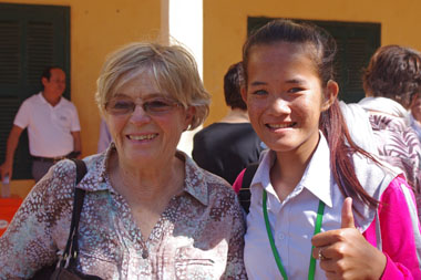 Geneviève and student